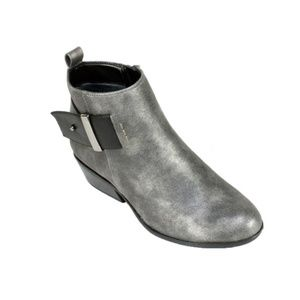 White Mountain • Grey Ankle Bootie W/ Buckle
